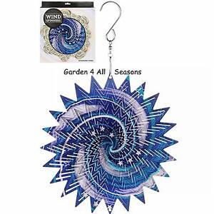 6-034-15cm-GALAXY-Stainless-Steel-Wind-Spinner-Sun-Catcher-Hook-Garden-Gift-Pack