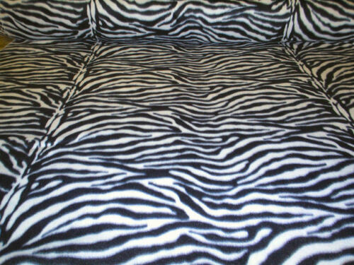 Fabric 60 Inch Width Zebra Print Polar Fleece Material Soft And Washable