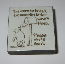 Winnie the Pooh Rubber Stamp Foam Mounted Please Write Soon More He Looked #2