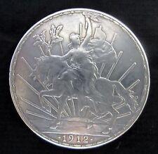 """1912 ESTADOS UNIDOS MEXICANOS UN PESO SILVER COIN 1912 """"CABALLITO PESO""""  MEXICO"""