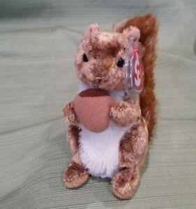 Ty Beanie Baby Nutty the Squirrel - 2002 MWMT Retired