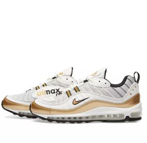 2018 Nike Air Max 98 UK White Gold QS Size 13. AJ6302-100 1 95 97  11c61ab50
