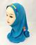 Muslim Kids Girls Hijab Scarf Islamic Flower Cap Shawls Amira Children Headscarf