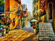 """THE SUN OF SICILY — Oil Painting On Canvas By Leonid Afremov.   Size: 40""""x30"""""""