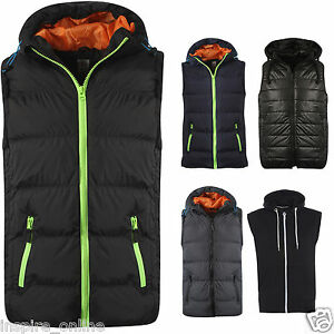 BRAND-NEW-MENS-PLAIN-SLEEVELESS-TOP-BODY-WARMER-JACKET-WAISTCOAT-HOODED-GILET
