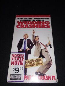 Wedding Crashers 2005 Vhs 2006 Mega Rare Owen Wilson Vince Vaughn Unrated Cult Ebay