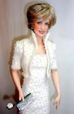 """Franklin Mint Princess Diana of Wales 17"""" Porcelain Doll Beaded Elvis Gown"""