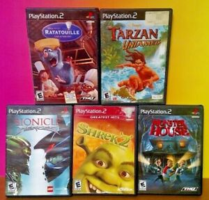 Disney-Ratatouille-Tarzan-Monster-Shrek-Bionicle-PS2-Playstation-2-Game-Lot