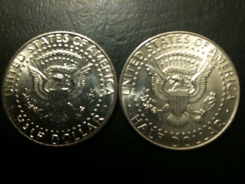 1990 P/&D Kennedy Half Dollar Set AU//BU Clad no Silver 50 Cent About UNC MS Mint