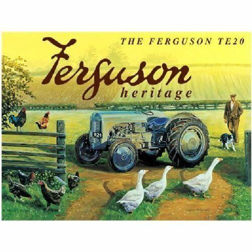 Massey Ferguson Heritage TE20 metal sign og 4030