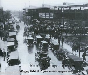 Image Is Loading Chicago Vintage Wrigley Field Cubs Baseball Bears Football