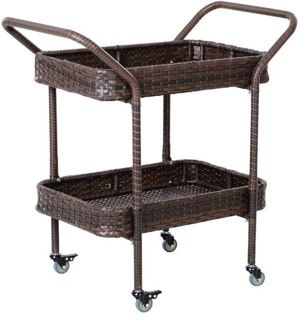 Patio Serving Cart Portable Outdoor