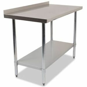 Commercial Stainless Steel Kitchen Food Prep Work Table ...