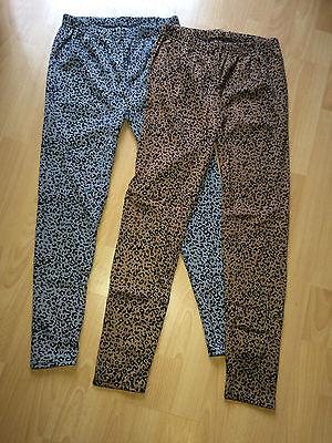 Damen oder Kinder Thermo Leggings grau und braun Leo-Look verschiedene Größen