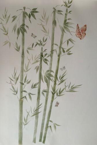 Bambou Papillons Stencil