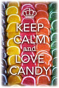 Keep-Calm-And-Love-Candy-Panneau-Metallique-Plaque-Voute-Etain-Signer-20-X-30-CM