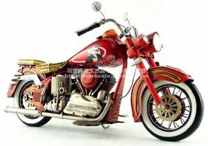 Antique-HARLEY-DAVIDSON-Motorcycle-Tin-Toy-Iron-Metal-Model-Figure-Handmade-Gift