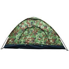 Outdoor 1-2 Person 4 Season Camping Hiking Waterproof Folding Tent Camouflage