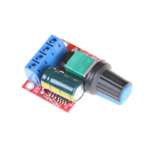 Mini DC Motor PWM Speed Controller 5A 4.5V-35V Speed Control Switch LED  PNE