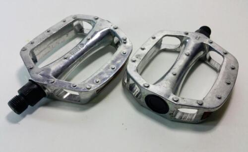 Alloy Pedal 1//2 Silver Mtb BMX Cruiser Urban Durable Aluminum for 1 piece crank
