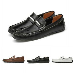 Chic Mens slip on loafer flat suede Leather casual moccasins driving Shoes New