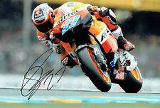 Casey STONER Autograph SIGNED Photo 12x8 Repsol HONDA Rider AFTAL COA