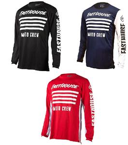 Fasthouse FH Stripes Adult Men/'s Jersey Motocross Mx Off Road Atv Shirt