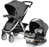Chicco Bravo Trio 3-in-1 Baby Travel System Stroller W/ Keyfit 30 Orion