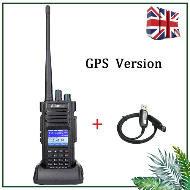 DMR Ailunce HD1 GPS Dual Band Walkie Talkie Digital Protable Radio TDMA IP67 VOX