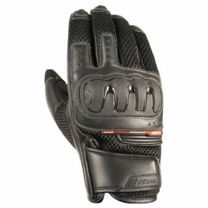 Nitro-NG-70-Women-Leather-amp-Textile-Motorcycle-Gloves-Black-Racing-Armoured