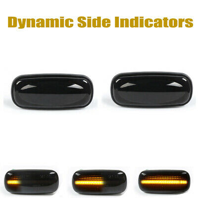 2× Dynamic LED Side Repeater Indicator Light For Land Rover Discovery Defender