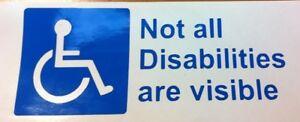 DISABILITY-AWARENESS-VINYL-DECAL-STICKER-IN-BLUE-CAR-VAN-WINDOW