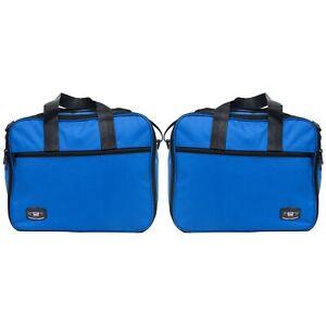 Pannier-Liner-Luggage-Bags-DUCATI-ENDURO-ALUMINIUM-Perfect-Fit-Pair-Blue