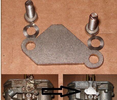 Dellorto DRLA Choke Mechanism Blanking Plate VW Split Screen Bay Van Beetle 181