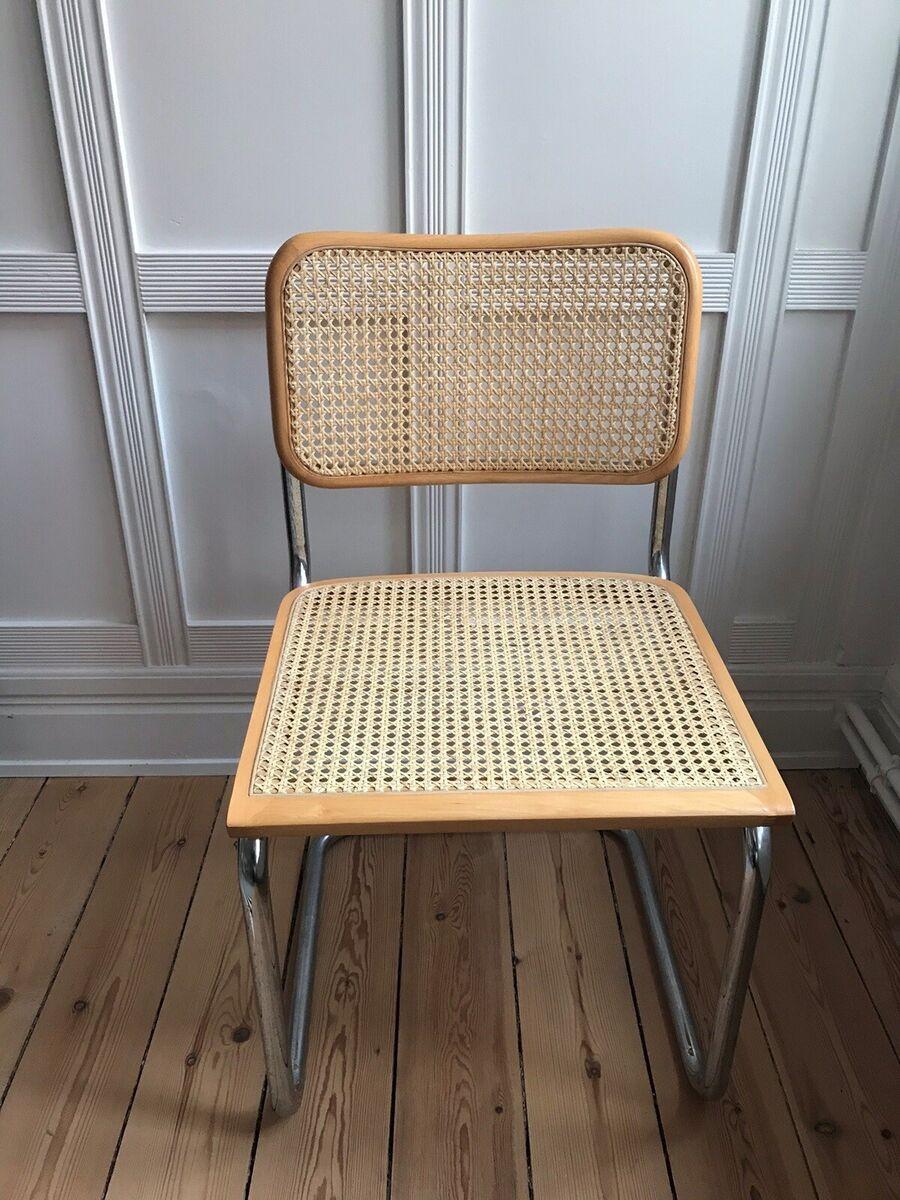 Spisebordsstol, Fransk flet, Vintage, Frisvinger stol med