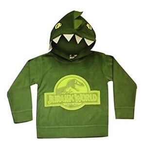 63efdad72073 Jurassic World Boys Dinosaur Hoodie Jumper Sweater T Rex Dino Kids ...