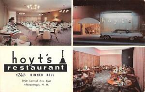 HOYT-039-S-DINNER-BELL-Albuquerque-NM-Route-66-Roadside-1967-Vintage-Postcard