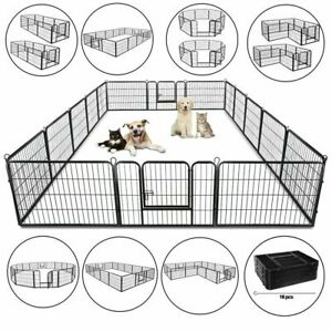 8panel-39-16panel-24-Metal-Dog-Cat-Exercise-Fence-Playpen-Kennel-Safe-For-Pet