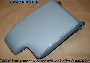 FITS-BMW-E46-CENTER-CONSOLE-ARMREST-COVER-UPHOLSTERY-GREY-REAL-LEATHER-1999-2004