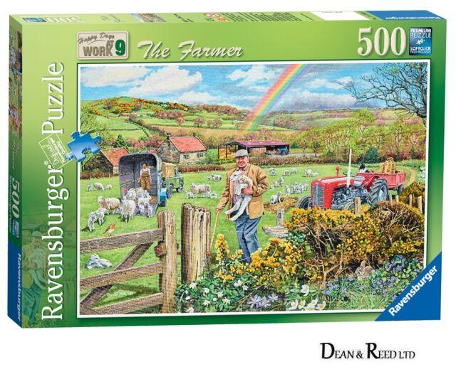 RAVENSBURGER NEW JIGSAW PUZZLE - NOSTALGIA - THE FARMER - 500 PIECES -14360