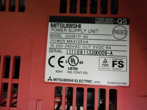 Mitsubishi MELSEC QS061P-A2 Power Supply Used Nice! T2