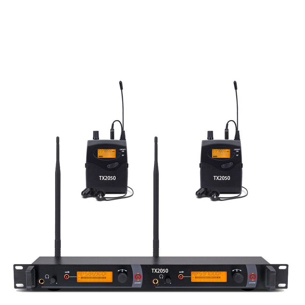 Pro UHF Wireless In Ear Monitor System Monitoring Audio Ganze Metall Top Qualität