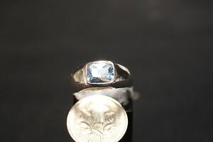 NEW-LADIES-STERLING-SILVER-BLUE-CZ-STONE-DRESS-RING-3-35gms-Q-8-25-39238