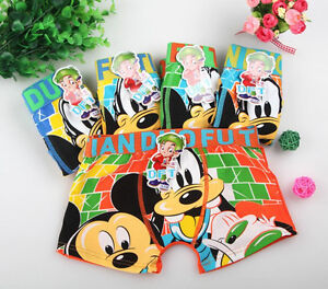Toddler Baby Boys Girls Mickey Mouse Cartoon Boxer Children Kids Cute Underwear