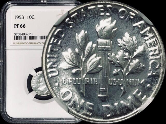 1953 Roosevelt Dime (10C) - NGC PF 66 Silver (Gem+ Proof)