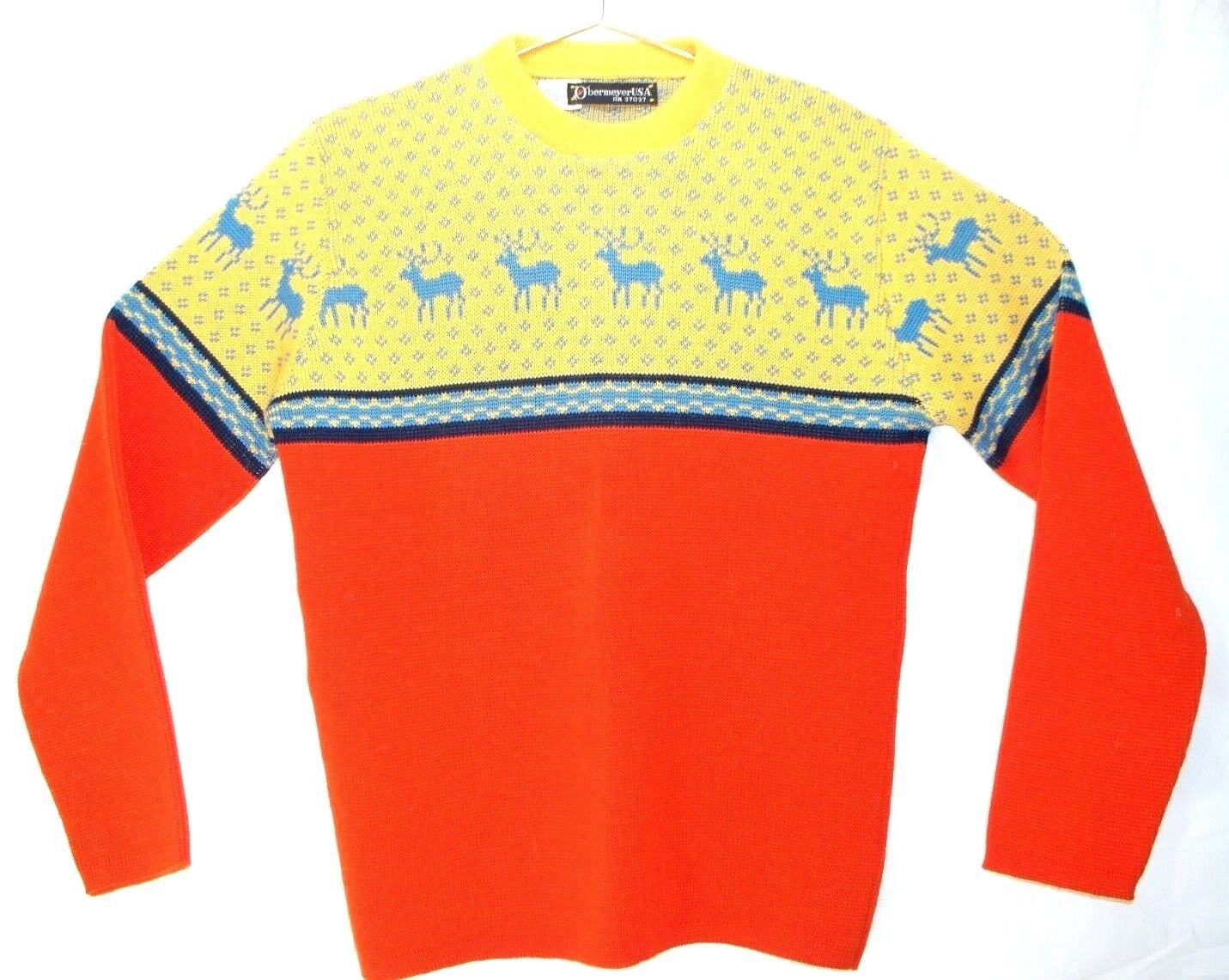 Obermeyer VTG Sweater Perfect for the après party Men's M M M 1960's or 70's fc7013