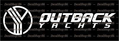 Outdoor Sports Rampage Yachts Vinyl Die-Cut Peel N/' Stick Decals//Stickers
