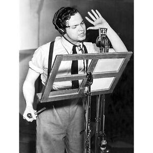 Actor-Orson-Welles-Studio-1938-Old-Photo-Large-Canvas-Art-Print