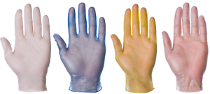 Disposable Clear /& Blue Vinyl Latex Nitrile Powdered Powder Free Medical Gloves