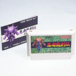 NINJA-RYUKENDEN-1-Cart-Manual-Famicom-Nintendo-FC-Japan-Import-TECMO-NES-NTSC